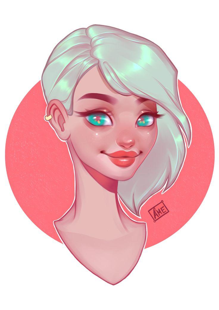 ArtStation - Simple girl portrait, Tricia Mathieu