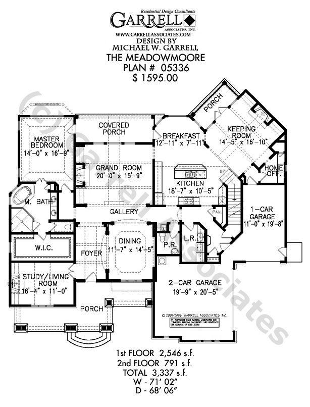 Meadowmoore Cottage House Plan 05336, 1st Floor Plan, Cottage Style House Plans, Southern Style House Plans
