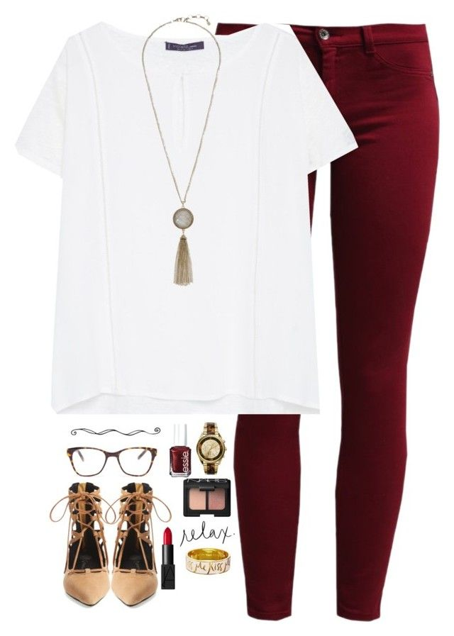 """going through these love quotes and thinking about the same person"" by kaley-ii ❤ liked on Polyvore featuring Sisley, Violeta by Mango, Lucky Brand, Jeffrey Campbell, Michael Kors, Prism, Essie, NARS Cosmetics and Kate Spade"