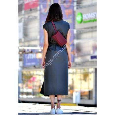 Женская сумка из натуральной кожи Элис в цвете Виноград .   1900 гривен.    Gunuine Italian Leather backpack, long wallet, clutch. 75USD + shipping
