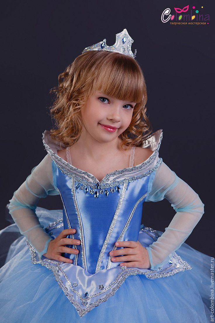 Купить или заказать Костюм Авроры в интернет-магазине на Ярмарке Мастеров. карнавальный костюм Авроры для девочки комплектация: платье, корона 134-146 +300…