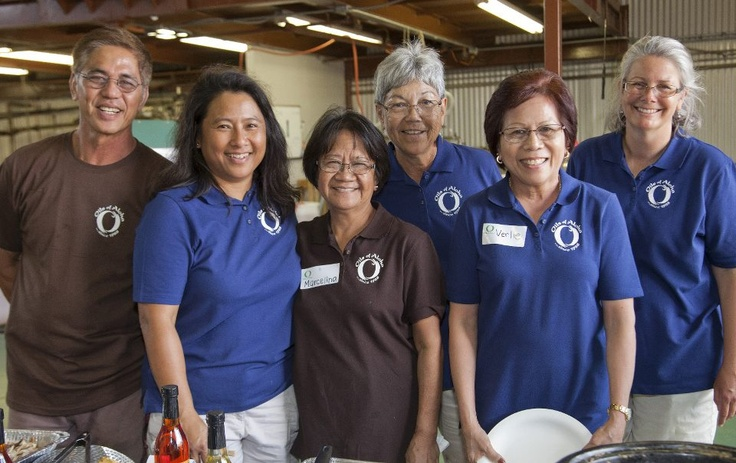 Oils of Aloha had a successful Open House last weekend to show off our newly renovated Kunia factory. We offered tours of the facility, let everyone make their own spa product and featured a buffet with all recipes made with our Hawaiian Macadamia Oil. It was very much a joint effort by everyone at Oils of Aloha. We will be sharing the recipes that we featured this week on Facebook.  *barbara