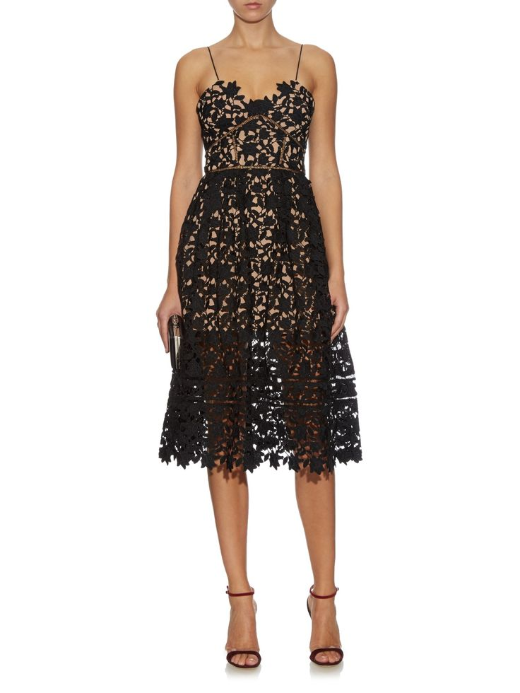 Azaelea floral-lace midi dress | Self-portrait | MATCHESFASHION.COM US