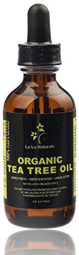 Organic Tea Tree Oil  Pharmaceutical Grade-Steam Distilled-Glass Dropper. Nat