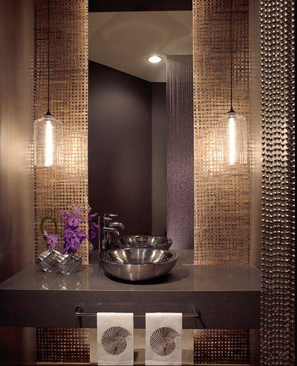 lavabo com papel de parede - Pesquisa Google