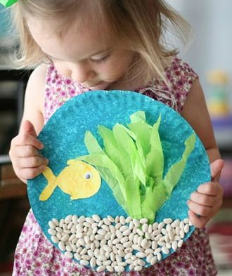 This is a fun activity for a child who is learning to paint and glue. You'll love the 3-D feel of this fish-in-a-bowl craft, and you'll only need a few simple materials!
