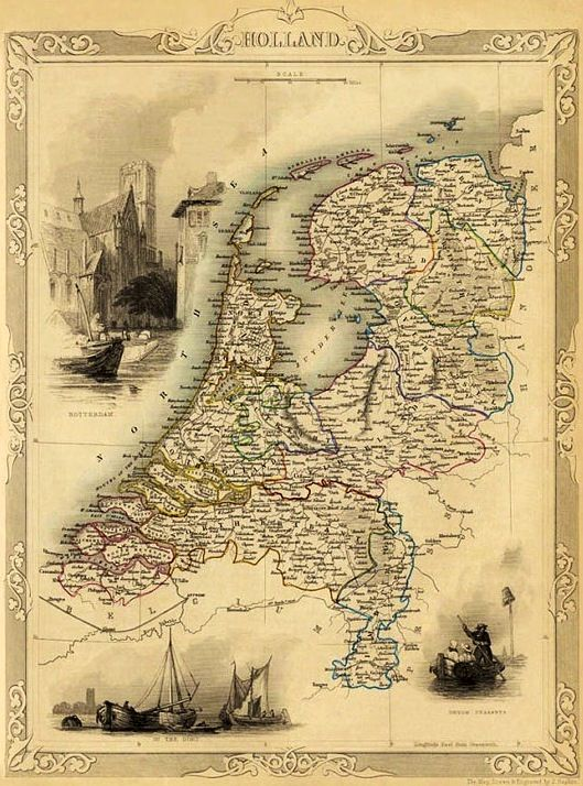 Map of the Netherlands.