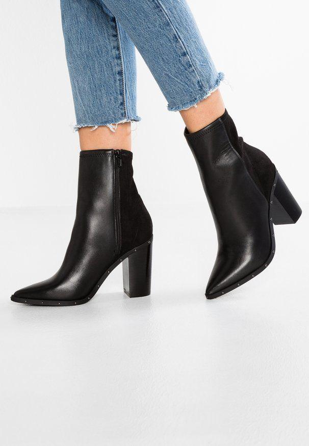 aldo black heeled boots