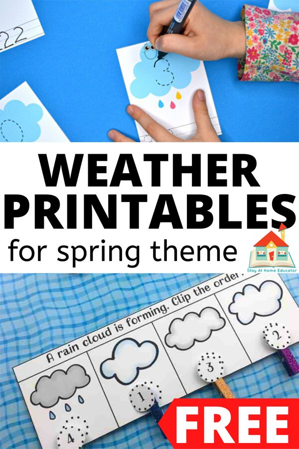 Free Spring Printables For Preschoolers Stay At Home Educator In 2021 Weather Activities Preschool Preschool Weather Preschool Activities Preschool lesson plan ideas for weather