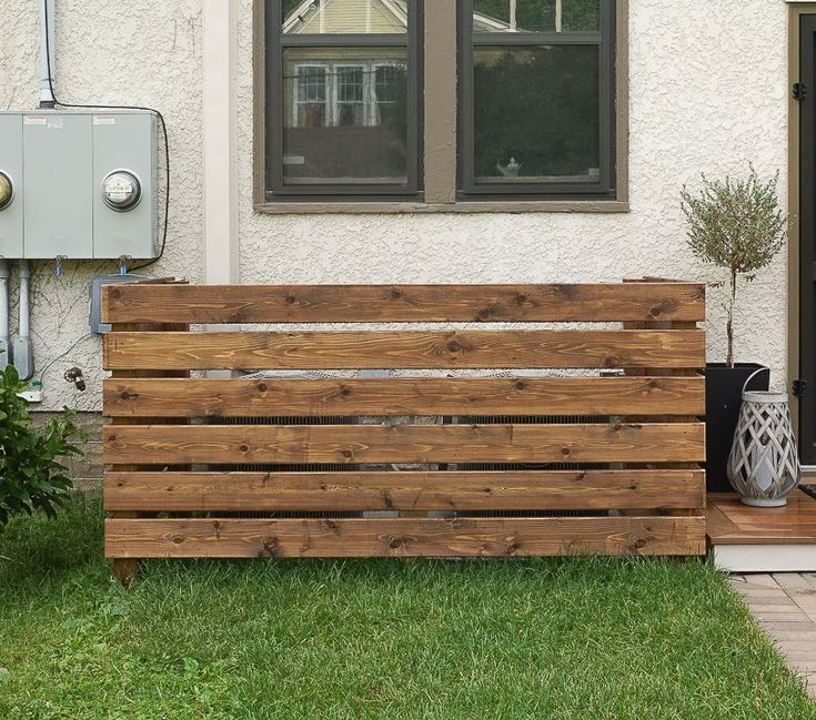 How to Make A Backyard Screen for Your Air Conditioner