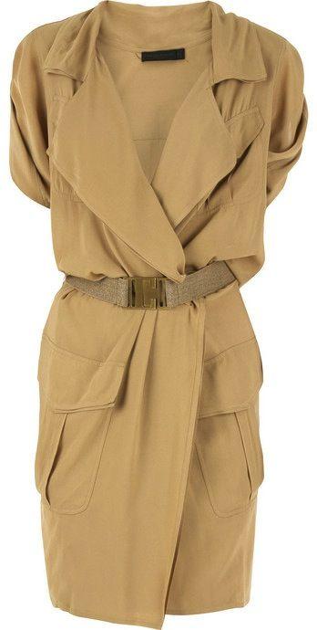DONNA KARAN | Silk shirt dress