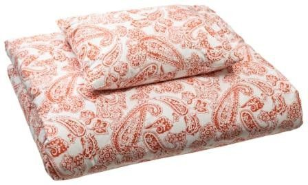 Bed set Organic Cotton Old Paisley - Orange 220 x 220 cm