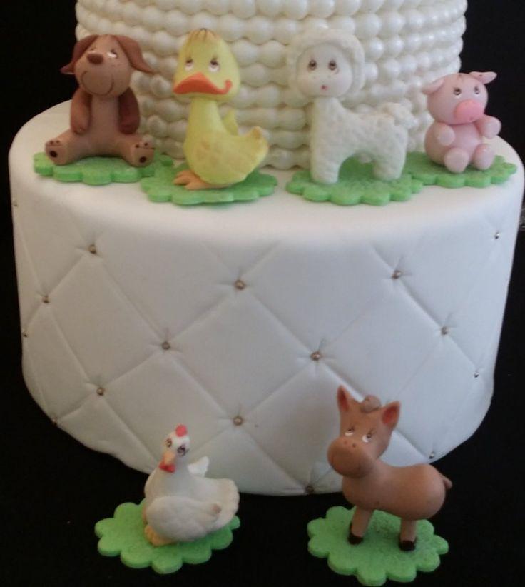 Farm Animals For Cake, Farm Birthday Party Decorations, On the Farm Baby Shower, Animal Cake Topper, Farm Baby Animals, Farm Decorations