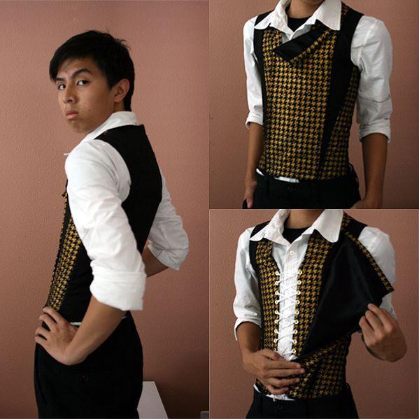 Image result for men's gold corset