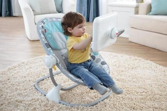Baby chair with tablet case