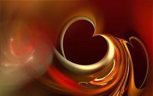 Preview tapéta szív, barna, narancs, szeretet, fény