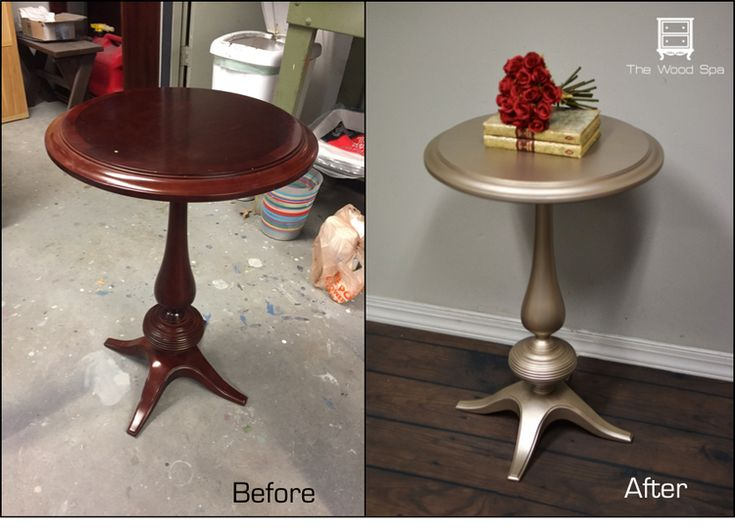 Little Side Table Transformation With Warm Silver Metallic Paint By Modern  Masters   Project By The