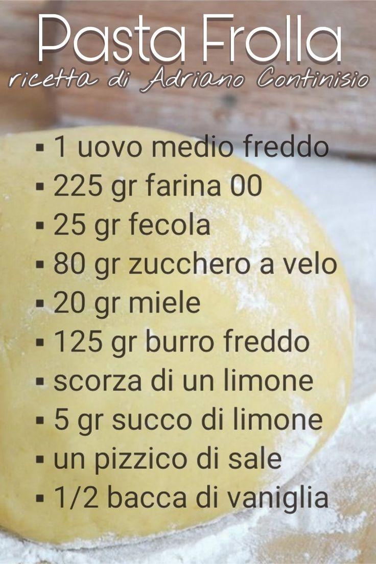 Pasta Frolla Ricetta Adriano Continisio