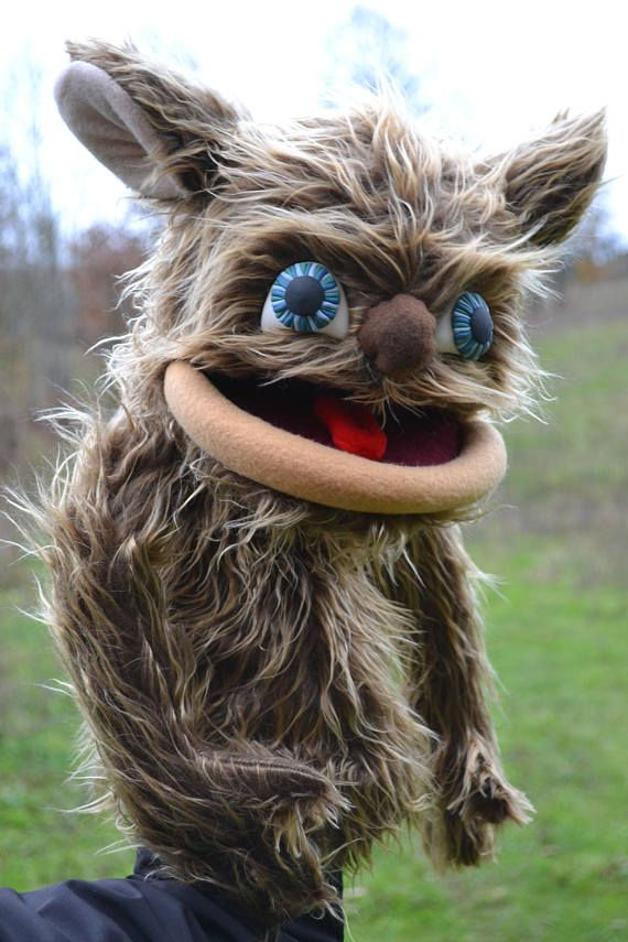 OOAK Furry Monster Professional Hand Puppet  Christmas Gift
