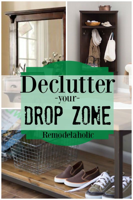 Foyer Hallway Zones : The entryway quot drop zone is a difficult area to keep clear