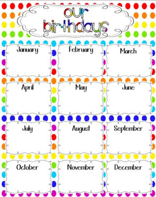 Get Free High Quality HD Wallpapers Printable Birthday Chart For Classroom