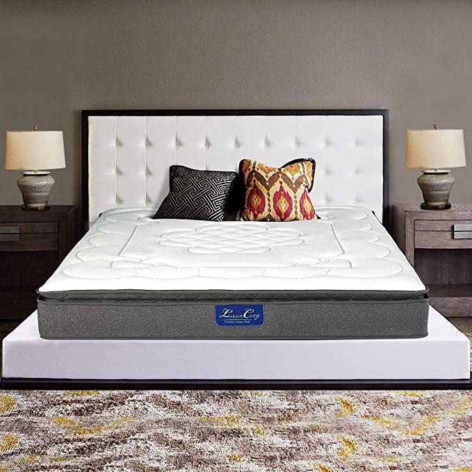 Luxurcozy Memory Foam Mattress Comfort Luxury 13 Inch Pillow Top Individually Pocketed Coil Spring Hybrid Mattre Comfort Mattress Mattress Memory Foam Mattress