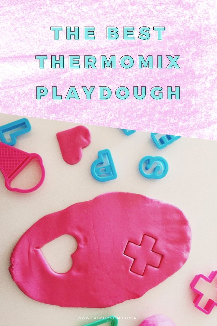 Hurrah! This is the BEST Thermomix Playdough in the world. For real. It's smooth. It's easy to make. And it lasts. Pin now, make later!