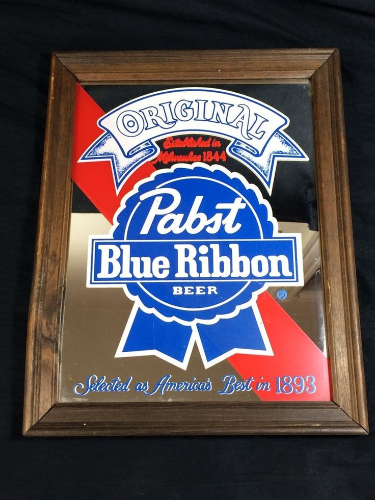 Vintage Pabst Blue Ribbon Beer Original Mirror Sign PBR #pabst #mirror #pabstsign #PBR #beersign