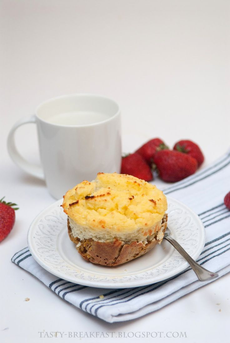 Carrot-coconut muffin for breakfast
