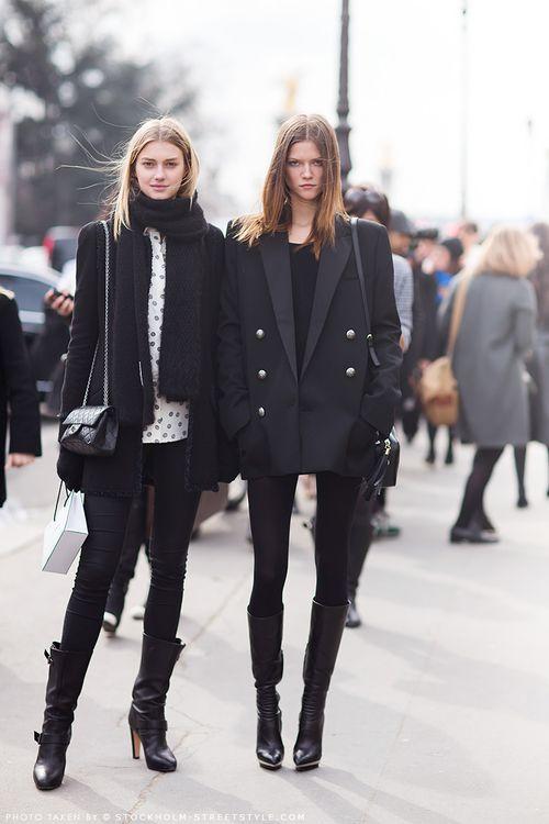 all black, street style - Stockholm, Sweden