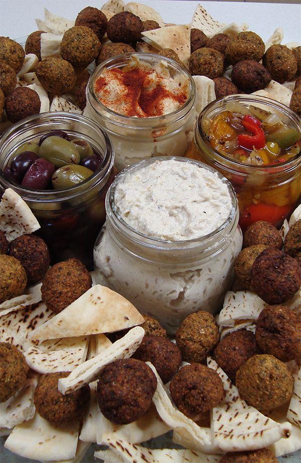 Mediterranean Mezze Platter with Falafels