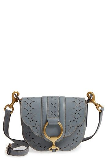 072d644fc0 FRYE ILANA SMALL PERFORATED LEATHER SADDLE BAG - GREY.  frye  bags  leather