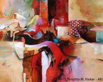 SMELTEN van ijs - Fine Art Prints op papier of Canvas - Limited Edition van 295 Dit abstracte figuratief kunstwerk combineert de willekeurige energie van een abstract schilderij en de rustige pose van de vrouwelijke figuur.  Hand gesigneerd en genummerd door de kunstenaar - Tim Parker  ::: VIER VERSCHILLENDE GROOTTEN:::  Afbeeldingsgrootte: 12 x 16 op Fine Art papier Papierformaat: 16 x 20 (afdrukken is hand getekend in de witte rand) Ingelijste - past op elke standaard maat 16 x 20 Frame of…