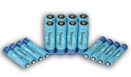 Tenergy High capacity NiMH Rechargeable battery package- 8 AA 2600 mAh and 8 AAA 1000 mAh $21+ Amz