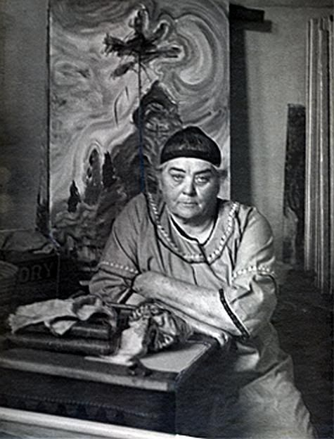 "Canadian Painter: Emily Carr, Victoria, B.C.  ""You will have to experiment and try things out for yourself and you will not be sure of what you are doing. That's all right, you are feeling your way into the thing.""  Emily Carr"