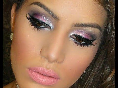 Maquillaje para fiesta de noche vestido rosa