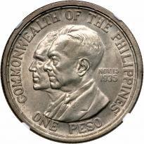 Philippines. Peso, 1936-M. NGC MS63 - Price Estimate: $200 - $250