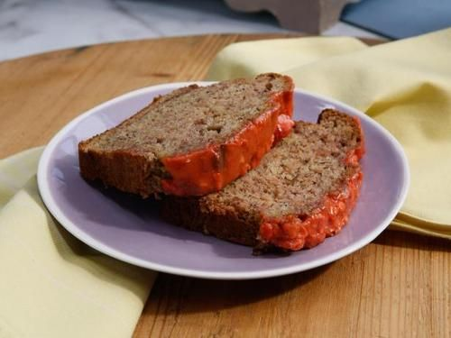 "Strawberry Banana Bread (Comforting Classics) - Geoffrey Zakarian, ""The Kitchen"" on the Food Network."
