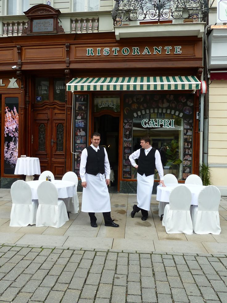 Karlovy Vary (Carlsbad) is the best known historical and contemporary spa site in Bohemia.  Here is a small restaurant.