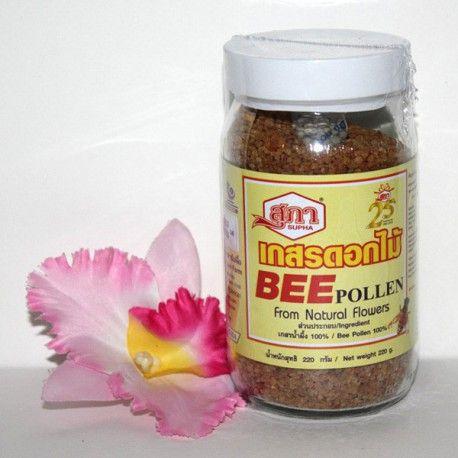 Пчелиная пыльца. Натуральный, органический (от англ. organic food) продукт, собранный пчелами из пыльцы уникального сочетания дикорастущих трав и цветов, растущих на территории северного Таиланда.  Пчелиная пыльца повышает сопротивляемость организма при хронических заболеваниях, восстанавливает силы, обладает антибактериальными свойствами, помогает при лечении простатита и гипертонии, благотворно влияет на состояние и внешний вид волос.