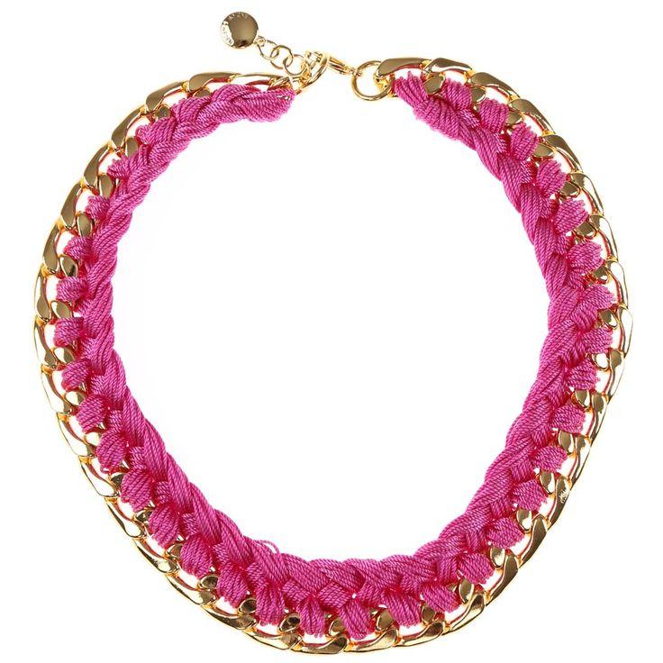 SNÖ Of Sweden - Picchu Big Necklace Gold/Cerise 45 - 491-0202301