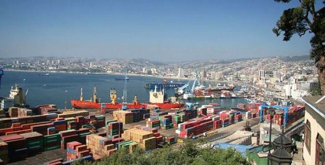 The photo shows the Port and cityscape at Valparaiso, Chile. There's also a post about my family history, which is very interesting so read on!
