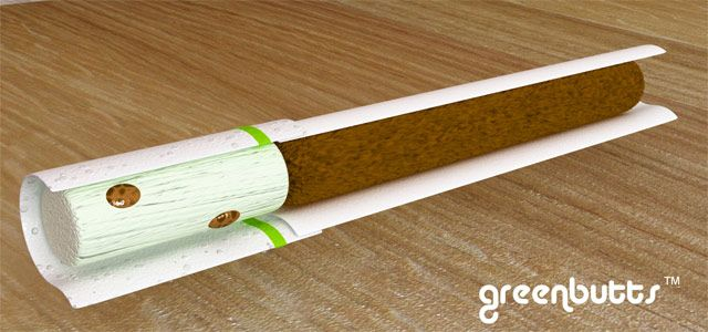 for all you smokers that throw your cigs out the window. this would make the world greener