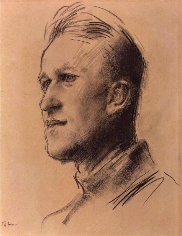 T.E. Lawrence by Augustus Edwin John chalk, circa 1929