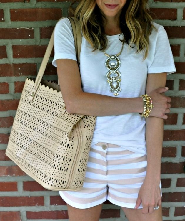 Neutral on Neutral! Summer statement jewelry with Stella & Dot (+ a GIVEAWAY!)