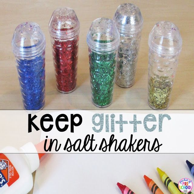 12 life changing classroom art tricks - create less mess and more art (glitter trick prefect for my preschool & pre-k classroom)