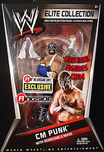 RINGSIDE COLLECTIBLES WWE Toys, Wrestling Action Figures, Jakks Pacific, Classic Superstars Action F: CM PUNK W/ REMOVABLE MASKSTRAIGHT EDGE SOCIETY RINGSIDE ELITE EXCLUSIVEWWE Toy Figure