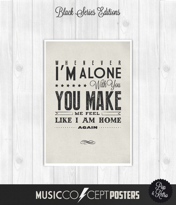The Cure - Love Song - Lyrics Poster -  Music Concept POSTER - Retro Pick a size