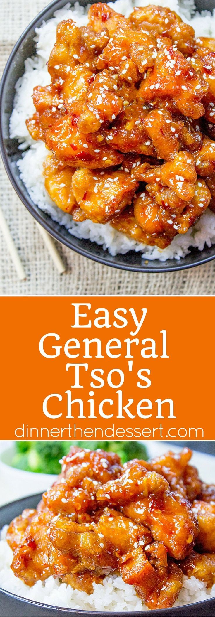 General Tso's Chicken is a favorite Chinese food takeout choice that is sweet and slightly spicy with a kick from garlic and ginger. #ChineseFoodRecipes