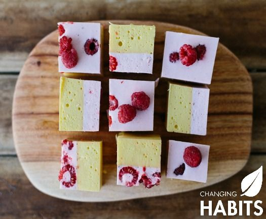 Raspberry and Mango Jelly Squares